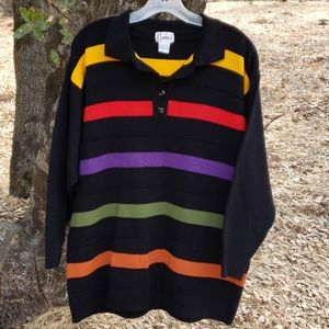 Carducci Colorful Long-Sleeved Sweater